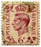 Stempel des Königs George VI. Stockbild