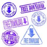 Stempel des kostenlosen Downloads Stockfotografie