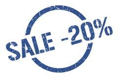 Stempel des Verkaufs -20% stock abbildung