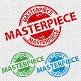 Stempel-Dichtungs-Meisterwerk - Vektor-Illustration - lokalisiert auf transparentem Hintergrund lizenzfreie abbildung