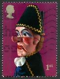 Stempel en de Postzegel van Judy het UK Stock Foto's