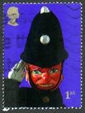 Stempel en de Postzegel van Judy het UK Stock Foto