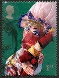 Stempel en de Postzegel van Judy het UK Stock Fotografie