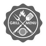 Stempel für Grillmenü stock abbildung