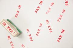 Stempel FAX-IN lizenzfreies stockbild