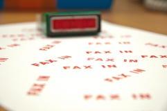 Stempel FAX-IN stockbild