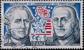 Stempel Frankreich Lizenzfreies Stockbild
