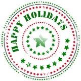 Stempel: Frohe Feiertage Lizenzfreies Stockbild