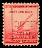 Stempel gedruckt durch Vereinigte Staaten, Shows 90 Millimeter Fliegerabwehrkanone Stockbild