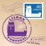 Stempel gesetztes Lissabon Stockbilder