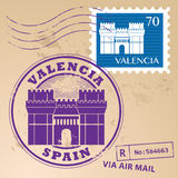 Stempel gesetztes Valencia Stockbild