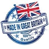 Stempel hergestellt in Großbritannien lizenzfreie abbildung