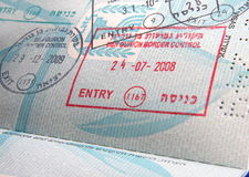 Stempel im Pass lizenzfreie stockfotografie