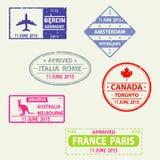 Stempel im Pass, Visum lizenzfreie abbildung