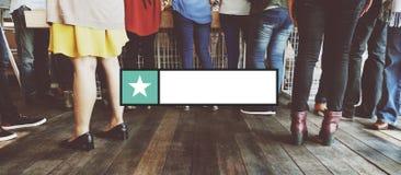 Stempel-Konzept des Ausweis-Kopien-Raum-Fahnen-Aufkleber-freien Raumes Lizenzfreie Stockfotografie
