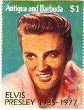 Stempel mit Elvis Presley Lizenzfreie Stockfotos