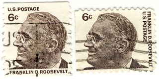 Stempel mit Franklin D.Rooseve Lizenzfreies Stockfoto