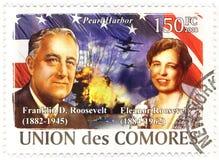Stempel mit Franklin Roosevelt Stockbild