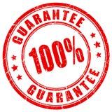 Stempel mit 100 Garantien Stockfoto