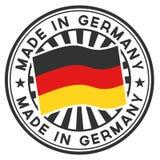 Stempel mit Markierungsfahne des Deutschlands. Gebildet in Deutschland. Stockfotografie