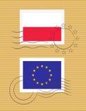 Stempel mit Markierungsfahne von Polen Lizenzfreies Stockbild