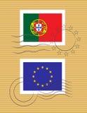 Stempel mit Markierungsfahne von Portugal Lizenzfreie Stockbilder