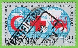 Stempel Spanien stockbild