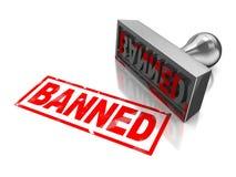 Stempel verboten Lizenzfreies Stockbild