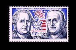 Stempel vom zweihundertjährigen der Unabhängigkeit der USA Lizenzfreie Stockfotografie