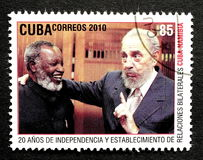 Stempel von Fidel Castro stockfotos