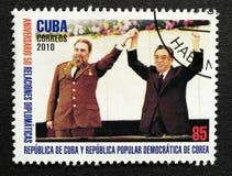 Stempel von Fidel Castro stockfoto