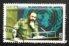 Stempel von Fidel Castro stockbilder