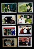 Stempel von Fidel Castro lizenzfreie stockfotografie