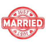Stempel von geheiratet Lizenzfreie Abbildung
