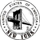 Stempel von USA New York stockfotografie