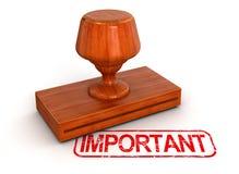 Stempel wichtig (Beschneidungspfad eingeschlossen) Lizenzfreie Stockfotografie