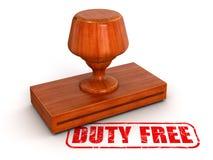 Stempel zollfrei (Beschneidungspfad eingeschlossen) Lizenzfreies Stockbild
