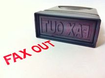 Stempelfax heraus Stockfotografie