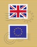 Stempelmarkierungsfahne von Vereinigtem Königreich Lizenzfreies Stockbild