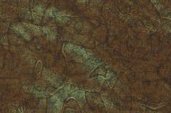 Stempeln auf Metall oxidiertem dickem Kupferblech lizenzfreie stockfotografie