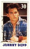 Stempeln Sie mit Johnny Depp Stockbild