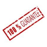 Stemplowa gumowa tekstura 100 procentów gwarancja Fotografia Stock