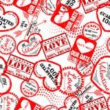 Stemplowa miłość Set3 Zdjęcia Royalty Free