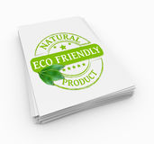 Stemplowy eco życzliwy Fotografia Royalty Free