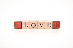 Stemplujący bloku abecadła miłości literującej Zdjęcie Royalty Free