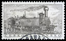 Stempluje drukowanego w Czechoslovakia pokazuje ` Kladno ` lokomotywę obraz stock