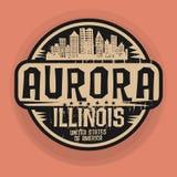 Stempluje lub etykietka z imieniem zorza, Illinois royalty ilustracja