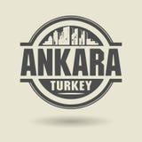 Stempluje lub etykietka z tekstem Ankara, Turcja inside royalty ilustracja