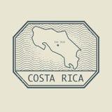 Stempluje z mapą Costa Rica i imieniem royalty ilustracja