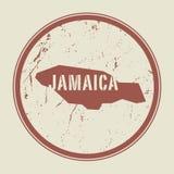 Stempluje z mapą Jamajka i imieniem ilustracji